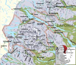 Lapponia mappa