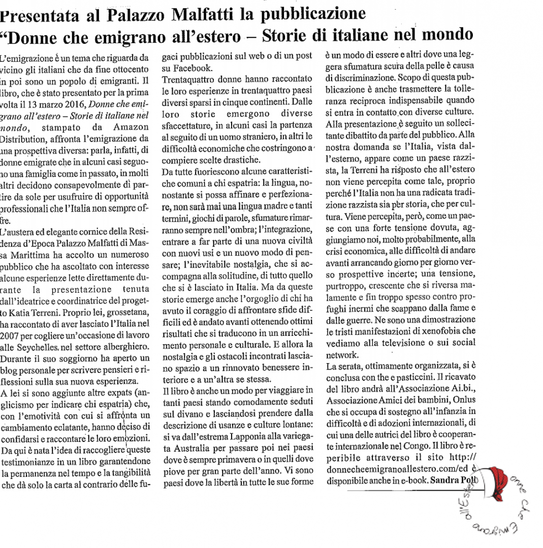 Articolo Sandra Poli