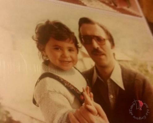Da piccola con mio padre