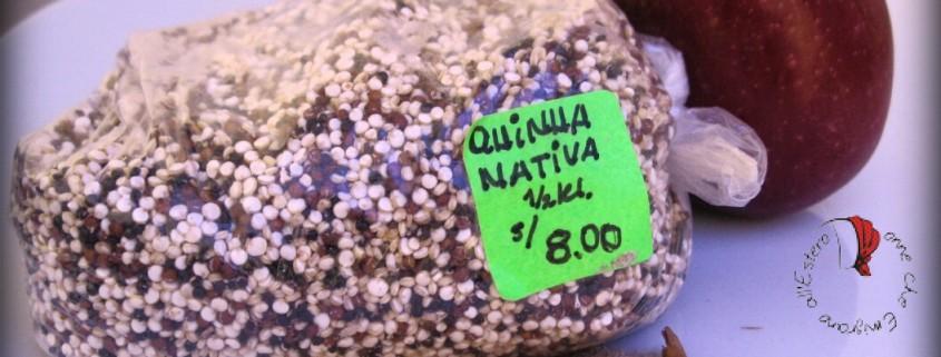 Gli ingredienti della ricetta della quinoa con mela.