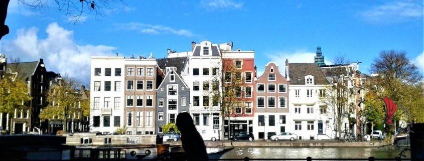 Amsterdam-biciclette-panorama-canali-sole