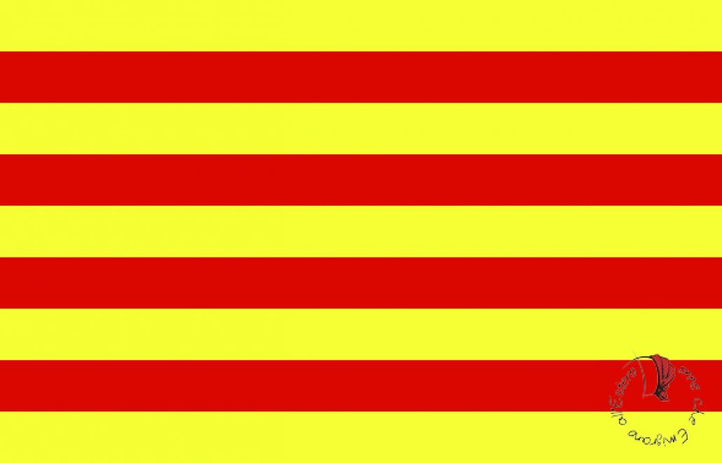 bandiera catalana; quattro strisce rosse; Barcellona