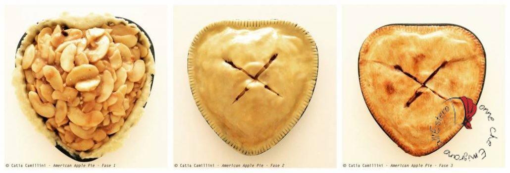 American Apple Pie di Catia in tre fasi di realizzazione