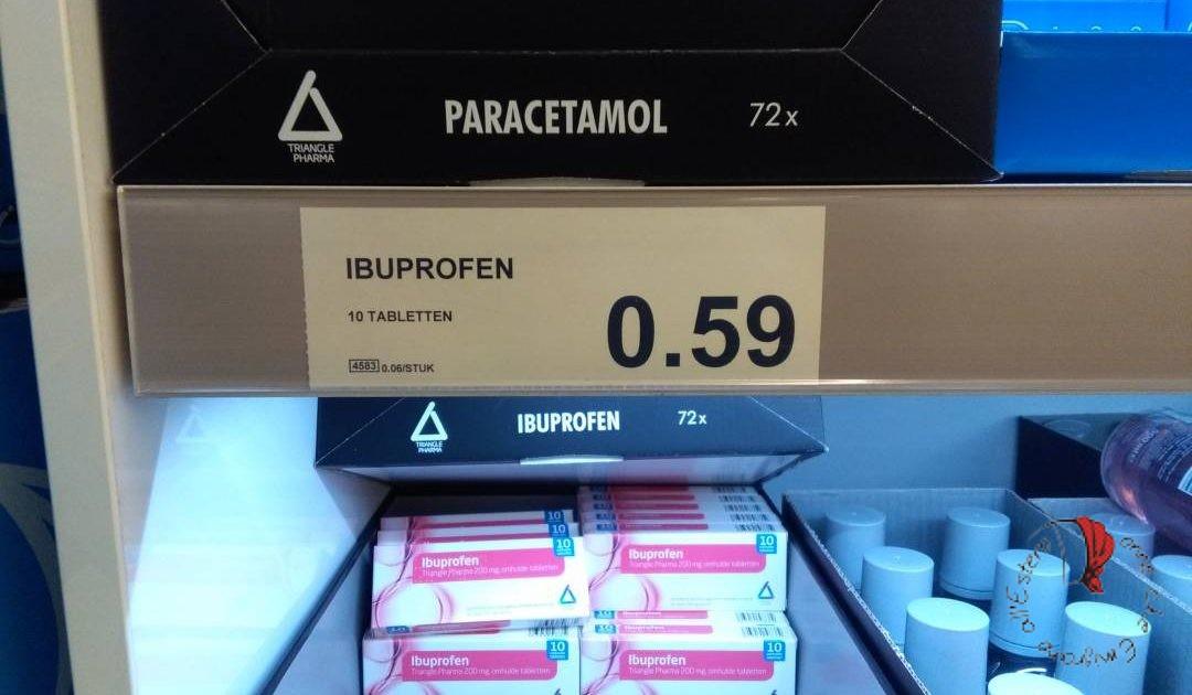 antiinfiammatorio al supermercato in Olanda