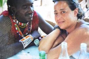 Donatella con Masai fidanzati