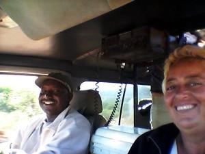 Donatella con marito in macchina