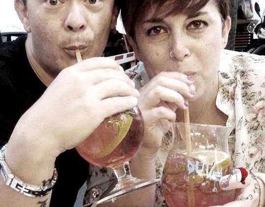 Roberta e marito drink