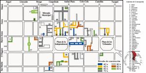Mappa delle galerias del centro