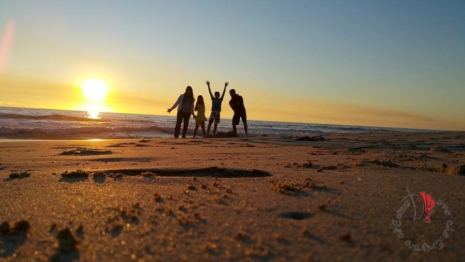 Pamela famiglia spiaggia