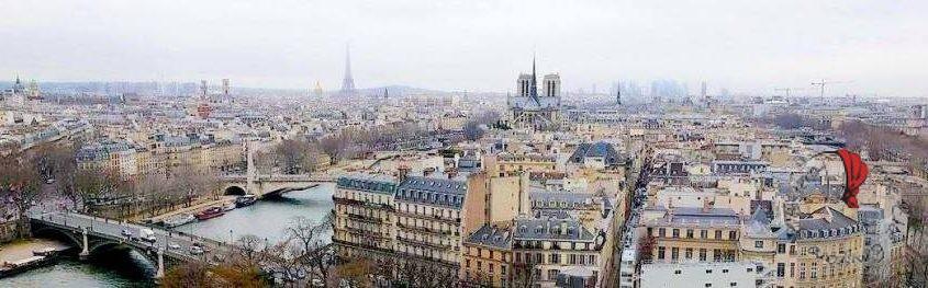 veduta dall'alto di parigi