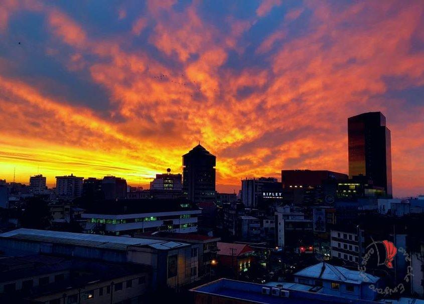 cile-tramonto-città