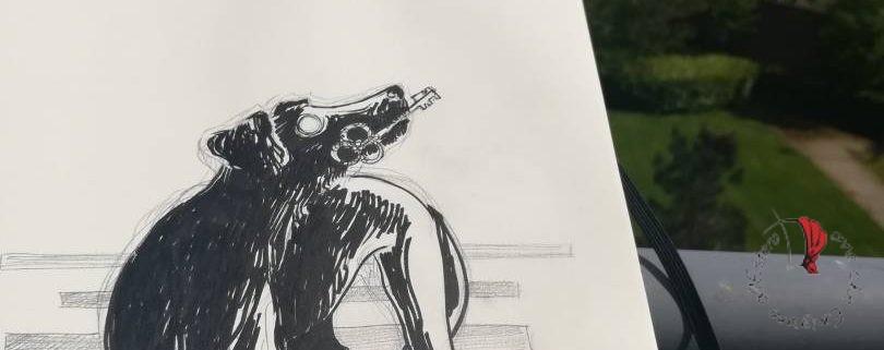 disegno-cane-chiave