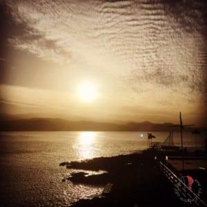 il tramonto alla Puntilla