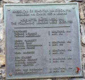 Kilmainham Gaol elenco caduti