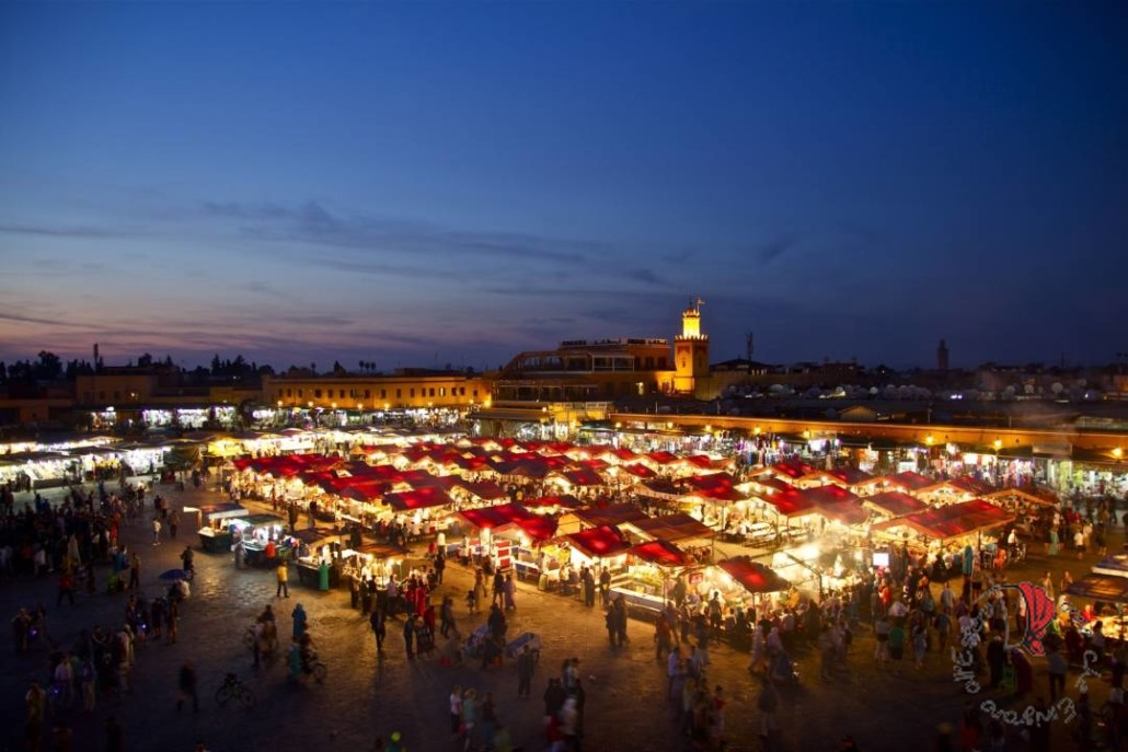 Marrakesh - Pizza Jemaa el-Fnaa