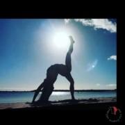 yoga ponte spiaggia