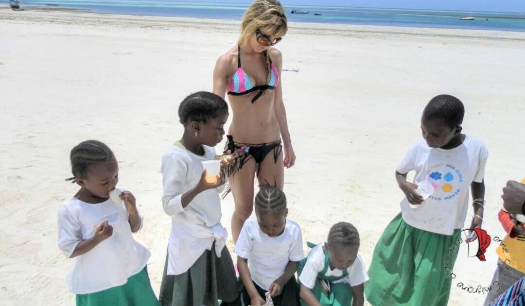 Cristina a Zanzibar
