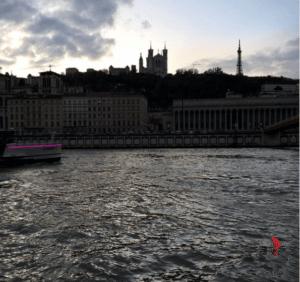 fiume- città - Lione - vista